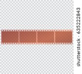 film tape on a transparent... | Shutterstock .eps vector #635222843
