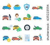car insurance against... | Shutterstock .eps vector #635223554