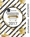 graduation ceremony poster ... | Shutterstock .eps vector #635225090