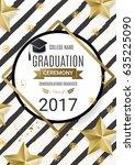 graduation ceremony poster ... | Shutterstock .eps vector #635225090