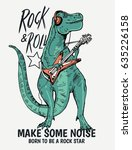 Rock Star Dinasour Illustratio...