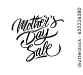 mother's day sale calligraphic... | Shutterstock .eps vector #635226380