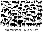 vector animal silhouettes   Shutterstock .eps vector #63522859