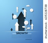 growth paper concept. white... | Shutterstock .eps vector #635228738