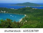 Small photo of Magens Bay of St. Thomas island with Tortola island (BVI) on the background.