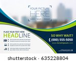 vector brochure  flyer ... | Shutterstock .eps vector #635228804