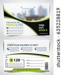 vector brochure  flyer ... | Shutterstock .eps vector #635228819