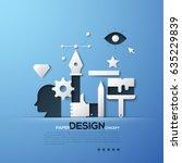 design paper concept. white... | Shutterstock .eps vector #635229839