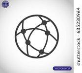 global technology or social... | Shutterstock .eps vector #635230964
