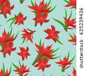 seamless colorful floral... | Shutterstock .eps vector #635239436