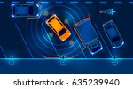 smart car is automatically... | Shutterstock .eps vector #635239940