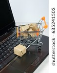 online shopping concept.... | Shutterstock . vector #635241503