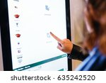 a woman orders food in the... | Shutterstock . vector #635242520