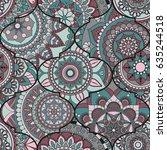 patchwork pattern. vintage... | Shutterstock .eps vector #635244518