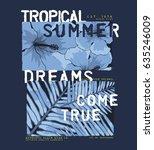 summer concept tee print design ... | Shutterstock .eps vector #635246009