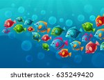 vector background with bright... | Shutterstock .eps vector #635249420