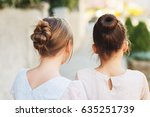 Back View Of Two Little Girls...