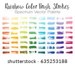 rainbow color paint brush... | Shutterstock .eps vector #635253188