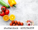 diet food with fresh fruits and ...   Shutterstock . vector #635256359