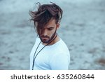 portrait of a man with beard... | Shutterstock . vector #635260844