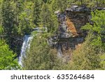 piney creek falls at fall creek ... | Shutterstock . vector #635264684