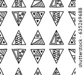 seamless pattern. black and... | Shutterstock . vector #635269688