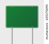 road traffic sign. blank board... | Shutterstock .eps vector #635270090