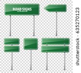 road traffic sign. blank board... | Shutterstock .eps vector #635270123