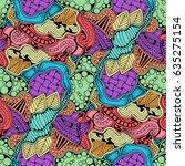 abstract zen art doodle native... | Shutterstock .eps vector #635275154