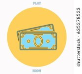 cash blue outline vector icon ...