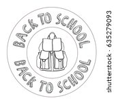 back to school | Shutterstock .eps vector #635279093