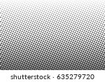 halftone dots. monochrome... | Shutterstock .eps vector #635279720