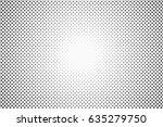 halftone dots. monochrome... | Shutterstock .eps vector #635279750