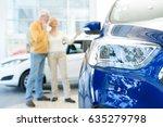selective focus on a car senior ... | Shutterstock . vector #635279798