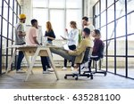 young group of multicultural...   Shutterstock . vector #635281100
