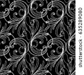 floral paisley seamless pattern.... | Shutterstock .eps vector #635289080