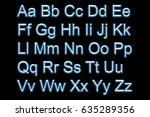 neon alphabet | Shutterstock . vector #635289356