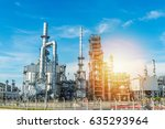 oil and gas industry refinery... | Shutterstock . vector #635293964