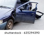 car after accident  cropped... | Shutterstock . vector #635294390