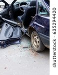 car after accident  cropped... | Shutterstock . vector #635294420