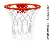 basketball hoop  isolated on... | Shutterstock .eps vector #635303564