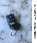 Small photo of black remote key clicker with key