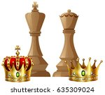 king and queen pieces of chess...