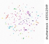 colorful confetti and ribbon... | Shutterstock .eps vector #635312549