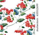 hawthorn forest berry.... | Shutterstock . vector #635312699