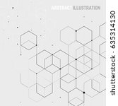 vector abstract background with ... | Shutterstock .eps vector #635314130