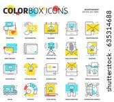 color box icons  advertisement  ...