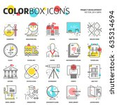 color box icons  education... | Shutterstock .eps vector #635314694