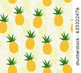 seamless pineapple pattern for... | Shutterstock .eps vector #635322476