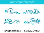 vector wave icons  simple... | Shutterstock .eps vector #635322950